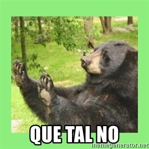 how about no bear 2 -  que tal no