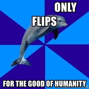 Drama Dolphin -                     only flips for the good of humanity