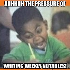 I FUCKING LOVE  - Ahhhhh the pressure of writing weekly notables!