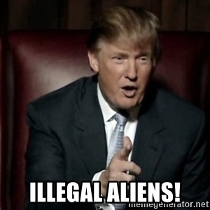 Donald Trump -  Illegal Aliens!