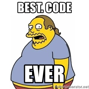 Comic Book Guy Worst Ever - Best. Code ever