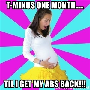 typical pregnant - T-Minus one month..... til I get my abs back!!!