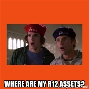 Dude where's my car -  Where are my R12 Assets?