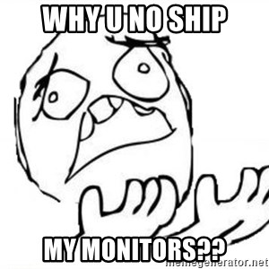 WHY SUFFERING GUY - why u no ship my monitors??