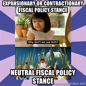 Why don't we use both girl - Expansionary or Contractionary Fiscal Policy Stance Neutral Fiscal Policy Stance