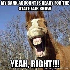 Horse - My bank account is ready for the State Fair Show Yeah, right!!!