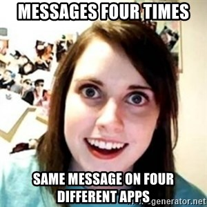 OAG - Messages four times same message on four different apps