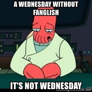 Sad Zoidberg - a wednesday without fanglish it's not wednesday