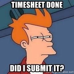 Fry squint - timesheet done did i submit it?
