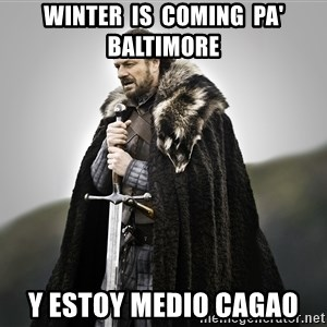 ned stark as the doctor - winter  is  coming  pa' baltimore y estoy medio cagao