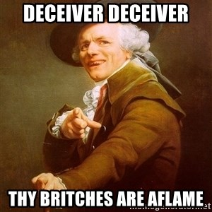 Joseph Ducreux - DECEIVER DECEIVER THY BRITCHES ARE AFLAME