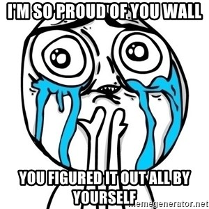 CuteGuy - I'm so proud of you wall You figured it out all by yourself