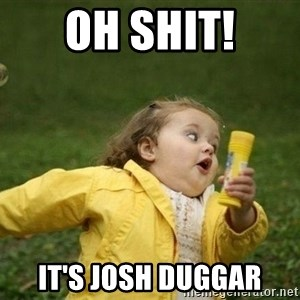 Little girl running away - Oh shit! It's Josh Duggar