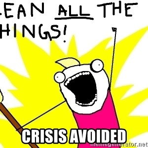 clean all the things -  Crisis Avoided