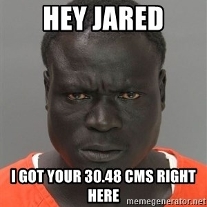 Misunderstood Prison Inmate - Hey jared I got your 30.48 cms right here