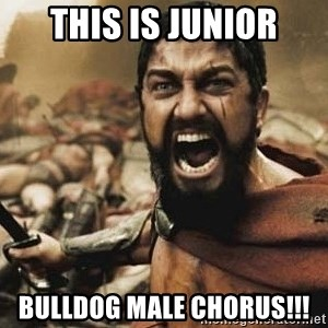 300 - THIS IS JUNIOR BULLDOG MALE CHORUS!!!