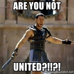 GLADIATOR - are you not united?!!?!