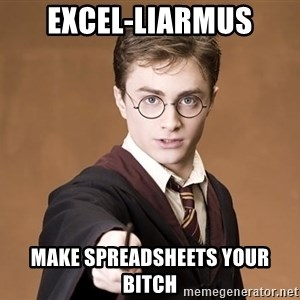 Advice Harry Potter - Excel-liarmus make spreadsheets your bitch