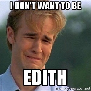Crying Man - I don't want to be edith
