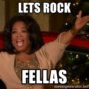 The Giving Oprah - lets rock fellas