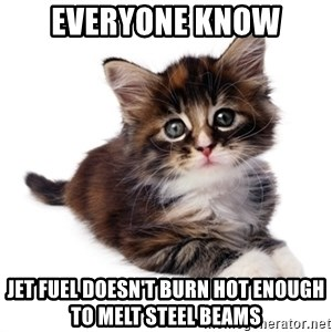 fyeahpussycats - Everyone Know Jet Fuel doesn't burn hot enough to melt steel beams
