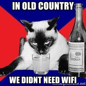 Alco-cat - in old country we didnt need wifi
