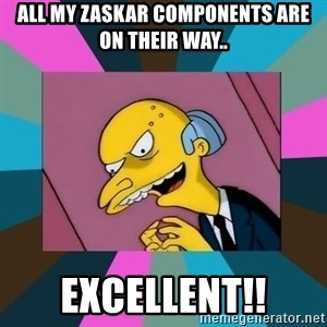 Mr. Burns - all my zaskar components are on their way.. excellent!!