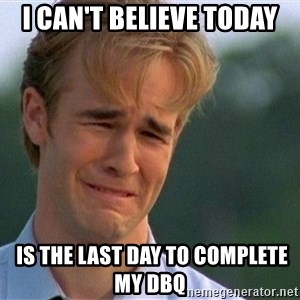 Crying Man - I can't believe today  is the last day to complete my DBQ