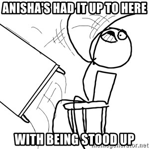 Desk Flip Rage Guy - Anisha's had it up to here with being stood up