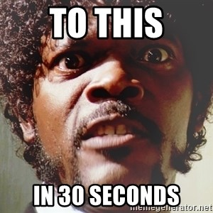 Mad Samuel L Jackson - To This In 30 seconds