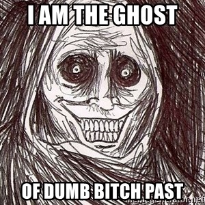 Never alone ghost - I am the Ghost  of dumb bitch past