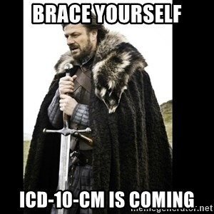 Prepare Yourself Meme - Brace Yourself ICD-10-CM is coming