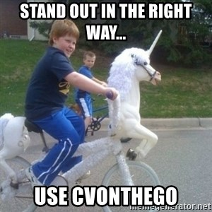unicorn - Stand out in the right way... use cvonthego