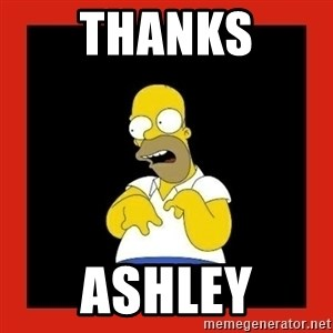 Homer retard - Thanks Ashley