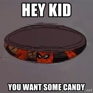 Spiderman in Sewer - Hey kid you want some candy