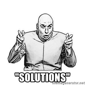 "Sceptical Dr. Evil -  ""Solutions"""