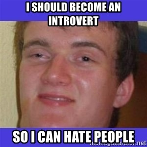 rally drunk guy - I should become an introvert So I can hate people
