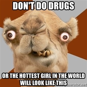 Crazy Camel lol - DON'T Do drugs or the hottest girl in the world will look like this