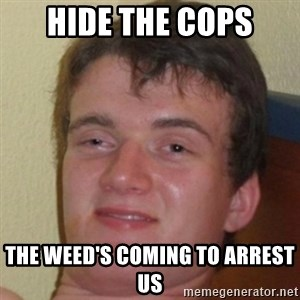 10guy - hide the cops the weed's coming to arrest us
