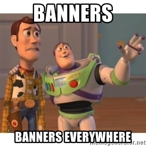 Toy story - BANNERS BANNERS EVERYWHERE