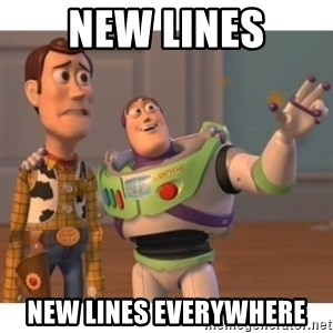 Toy story - New lines New lines everywhere