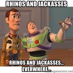 Toy story - Rhinos and Jackasses Rhinos and Jackasses... everwhere...