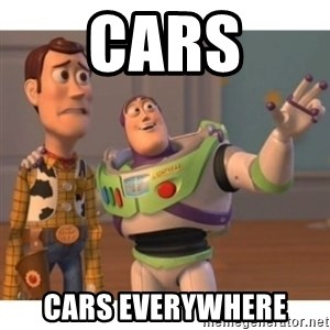Toy story - cars CARS EVERYWHERE