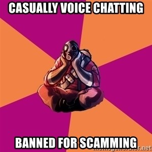 Sad Pyro - Casually Voice Chatting Banned for scamming