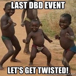 Dancing african boy - last dbd event let's get twisted!