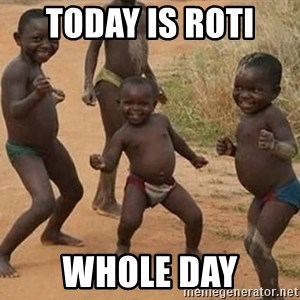 Dancing african boy - today is roti  whole day