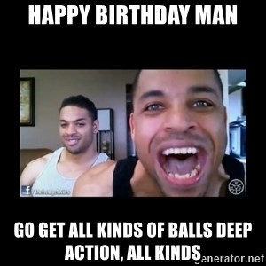 The Hodgetwins - happy birthday man go get all kinds of balls deep action, all kinds