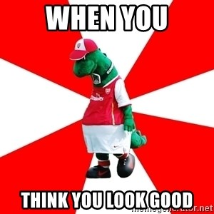 Arsenal Dinosaur - when you think you look good