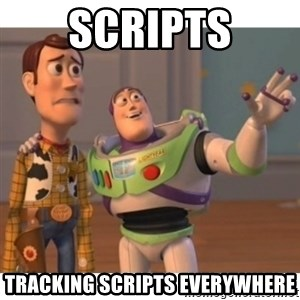 Toy story - scripts tracking scripts everywhere